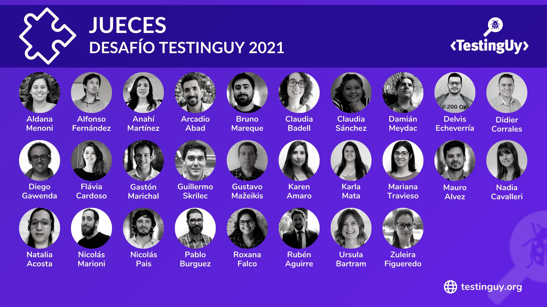 Desafio TestingUy 2021 - Jueces